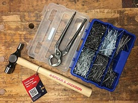 Nailing Starter Pack for Kids with nails, pincers and hammer